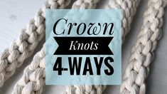 Did you know there is more than one way to tie a crown knot? Check this tutorial out! Macrame Chairs, Macrame Plant Hangers, Macrame Projects, Macrame Tutorial, Macrame Patterns, Macrame Knots, Tapestry Weaving, Hand Knitting, Inspiration
