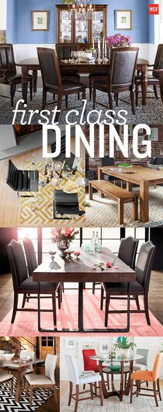 Upgrade your dining room experience with these elegant and classic pieces from Value City Furniture!