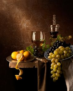 Still Life with Grapes and Lemons by Kevin Best