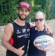 WITH MY FRIEND ELOI PELISSIER. #14.Leigh Centurions Rugby Super League Player. UK