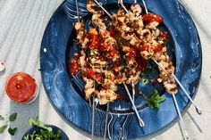 Chicken Skewers with Italian Dressing