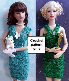 Crochet patron PDF pour poupée de mode de 16 par PrincessOfCrochet