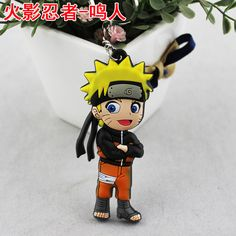 2015 Hot Sale Top Fashion Men Keyring Llaveros Mujer Llaveros Anime Naruto Pvc…
