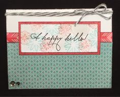Scrappy Hour: A Happy Hello - February Stamp of the Month Blog Hop #Heartstrings