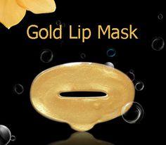 Μάσκα χειλιών με κολλαγόνο και χρυσό