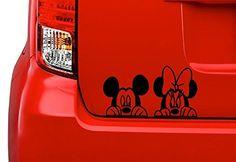 Disney Peeking Minnie and Mickey Vinyl Decal Sticker Car/Truck Laptop/Netbook Window CustomDecal US Casa Disney, Disney Home, Cricut Vinyl, Vinyl Decals, Car Decals, Mickey Mouse Car, Disney Mickey, Car Accessories For Guys, Van Accessories