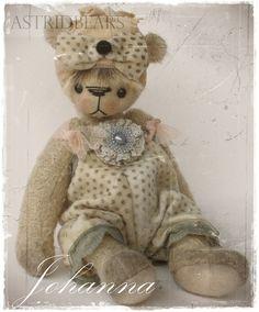 artist bear pattern Johanna 8.5 inch by ASTRIDBEARS by Astridbears, $13.00