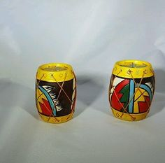 Vintage Conga/Native Drum Salt & Pepper Shakers