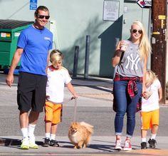 Gavin Rossdale takes his boys Kingston and Zuma to Starbucks