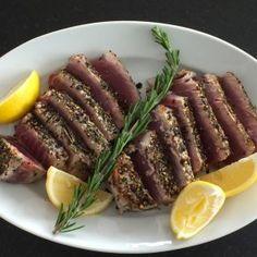Seared Black Pepper and Rosemary Crusted Tuna by Jessica Seinfeld
