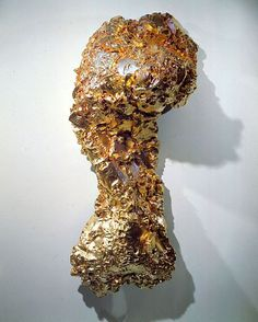 Lynda Benglis  GHOST DANCE / PEDMARKS, 1995-96  Bronze with gold leaf  84 x 36 x 25 inches  213.4 x 91.4 x 63.5 centimeters