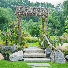 I can do this rustic arbor..  Appealing Arbor: