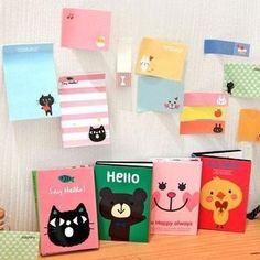 Frete Grátis 4 Designs DIY Memo Pad animal bonito Sticky Note Paper Kawaii Etiqueta Pads Criativo Papelaria Coreano dom gratuito 331 em Bloc...