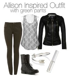 BKE Boutique / Leather jacket, $505 / Skinny leg jeans, $38 / Madden Girl booties / Accessorize bracelet ring / Lord & Berry , $23