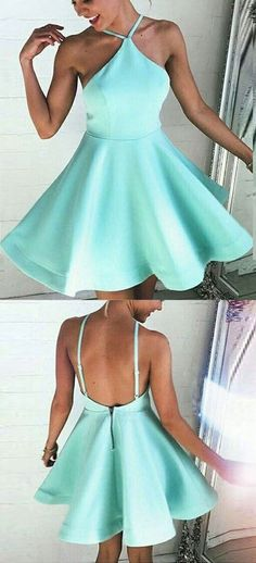 A-Line dresses,backless homecoming dresses,short homecoming dresses,mint green homecoming dresses,homecoming dresses 2017 Backless Homecoming Dresses, Prom Dresses 2017, Turquoise Homecoming Dresses, Wedding Dresses, Backless Wedding, Prom Gowns, Dress Prom, Party Dress, Dresses Short