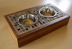 Bamboo & Tile Dog/Cat Bowl Platform | Do It Yourself Home Projects from Ana White