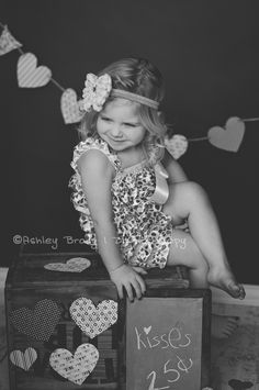 Kids Valentine Photoshoot Ideas #photography Hair bow and romper by kiwi and kiki. :)