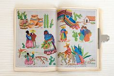 Mexican Cross stitch patterns from what looks like a beautiful book. I wish they gave the patterns!