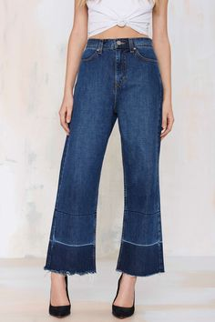 Nasty Gal Denim - Mad Crops Wide Leg Jean | Shop Clothes at Nasty Gal!