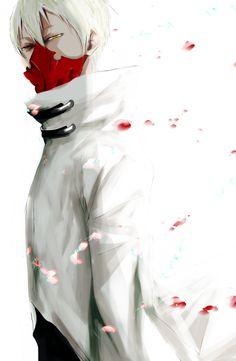 anime guy manga mask pain pixiv id 12553284 pixiv member: 猫町さん sick tatara tokyo ghoul toukyou kushu white hair