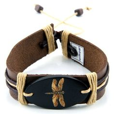 Leather Bracelet with Dragonfly JewelVolt. $4.50