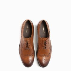 Image 4 of LEATHER OXFORD BLUCHER from Zara