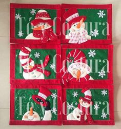 Mug Rugs, Hot Pads, Advent Calendar, Sewing, Holiday Decor, Christmas, Kitchen, Scrappy Quilts, Christmas Applique