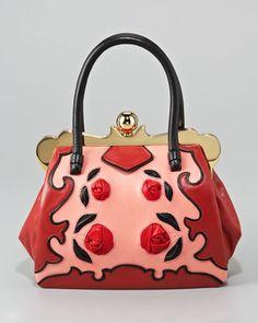 Leather-Handle Mini Rose Bag by Miu Miu at Bergdorf Goodman.