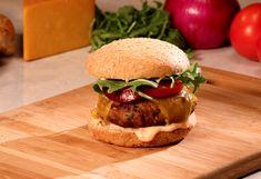 Try Cristina Ferrare& Turkey Cheeseburgers recipe. Turkey Burger Recipes, Turkey Burgers, Ground Turkey Recipes, Beef Recipes, Healthy Recipes, Healthy Foods, Good Food, Yummy Food, Tasty