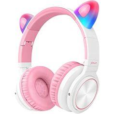Wireless Cat Ear Headphones, Kids Headphones, Headphones With Microphone, Wireless Headphones, Hifi Stereo, Adidas Shoes Women, Queen, Color Combos, Light Girls