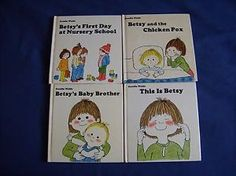 Gunilla-Wolde-4-hc-BETSY-books-1st-American-Ed-vg-Baby-Brother-Nursery-Schoo