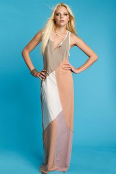 Chaser Patchwork Maxi Dress in Blush