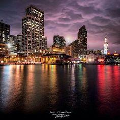 San Francisco at night by Israel Marino #sanfrancisco #sf #bayarea #alwayssf #goldengatebridge #goldengate #alcatraz #california