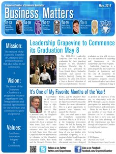 The April Edition Of Business Matters The Grapevine ChamberS