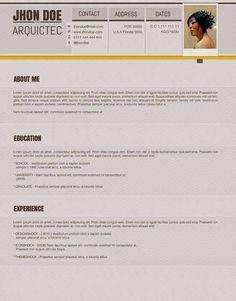 Plantilla Gratis Curriculum Vitae Creativo 23 Photoshop, Resume Design, Resume Templates, Lorem Ipsum, Editable, Cv Template, Tutorials, Creativity, Plants