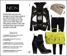 Transition: Summer to Fall [Making Five Summer Trends Fall Appropriate] Wearing Neon in Fall.