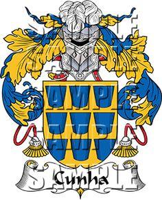 Cunha Family Crest apparel, Cunha Coat of Arms gifts