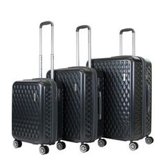 ea8dd1bee AGT 3-piece TSA Lock Hardside Spinner Luggage Set (Brown), American Green  Travel
