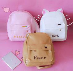 Cute cartoon backpack from Fashion Kawaii [Japan & Korea] - Bags - Cats Popular Handbags, Cute Handbags, Cheap Handbags, Purses And Handbags, Luxury Handbags, Luxury Purses, Wholesale Handbags, Coach Handbags, Cheap Purses