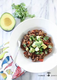 Pressure Cooker Mexican Lentil Rice. V. GF.