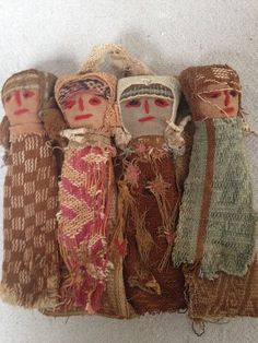 These rustic Peruvian Chancay dolls are a fantastic way to add a touch of history to any collection! Modern Peruvian artisans recreate Chancay dolls (named after the Chancay culture that inhabited the central coast of Peru ca. AD 1000 - 1476) in the old style using ancient fabrics. https://www.etsy.com/listing/194419908/vintage-peruvian-chancay-dolls?ref=listing-shop-header-2