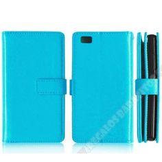 Funda piel súper cartera piel varios colores para tu móvil Huawei P8 Lite