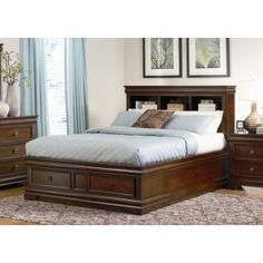 Coaster Bessey King Size Storage Bed in Mahogany Finish