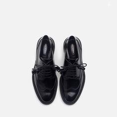 LEATHER BROGUE BLUCHER - View all - Shoes - WOMAN | ZARA Georgia