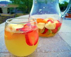 St. Germain-Infused Spring Sangria Blanca - A Little Bite of Life