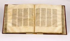 The OLDEST complete Bible, c350  Codex Sinaiticus, a manuscript of the Christian Bible written in the middle of the fourth century, contains the Old Testament translated into Greek and the EARLIEST complete copy of the Christian New Testament. The hand-written text is in Greek.