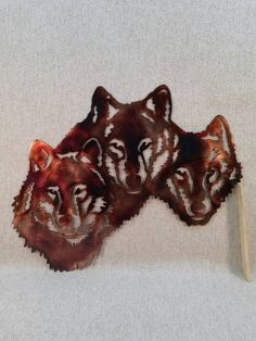 Excited to share this item from my #etsy shop: Wolf Trio Indoor or Outdoor Plasma Cut Wildlife Metal Art