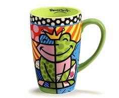 Frog 14 oz. Latte Mug (Set of 4)