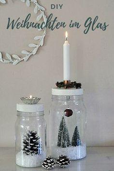 DIY: Christmas in a glass - Smilla& feeling of DIY: Weihnachten im Glas – Smillas Wohngefühl DIY Christmas in a glass - Christmas Crafts For Gifts, Xmas Gifts, Diy Gifts, Christmas Holidays, Christmas Decorations, Diy Natal, Cumpleaños Harry Potter, Navidad Diy, Father's Day Diy