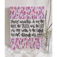 bible verse canvas // medium by gloriouslyruined on Etsy